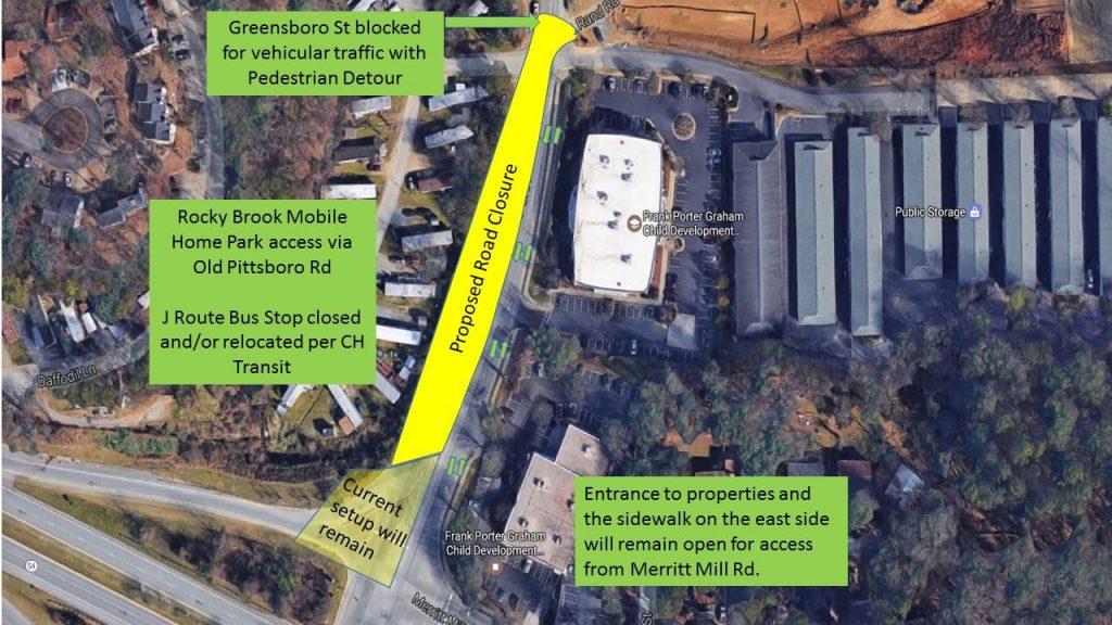S. Greensboro Street Detour