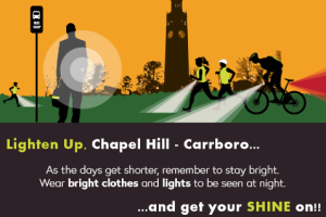 Lighten up, Chapel Hill and Carrboro
