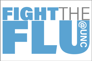 Fight the Flu at UNC web badge