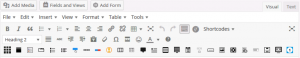 WordPress page editor toolbar