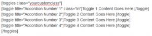 example of WordPress tabs shortcode