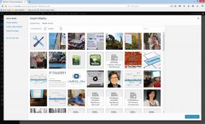 WordPress insert media options page