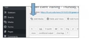 screenshot detail of WordPress page editor