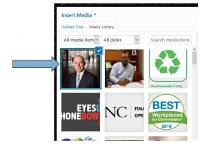 ScreenShot of WordPress media screen.