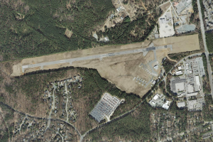 Aerial view of Horace Williams Airport