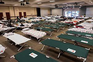 Friday Center Shelter for Hurricane Florence