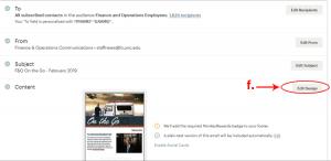 step f edit design chosen on campaign editing dashboard