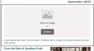 Drop an image or browse image selection pane