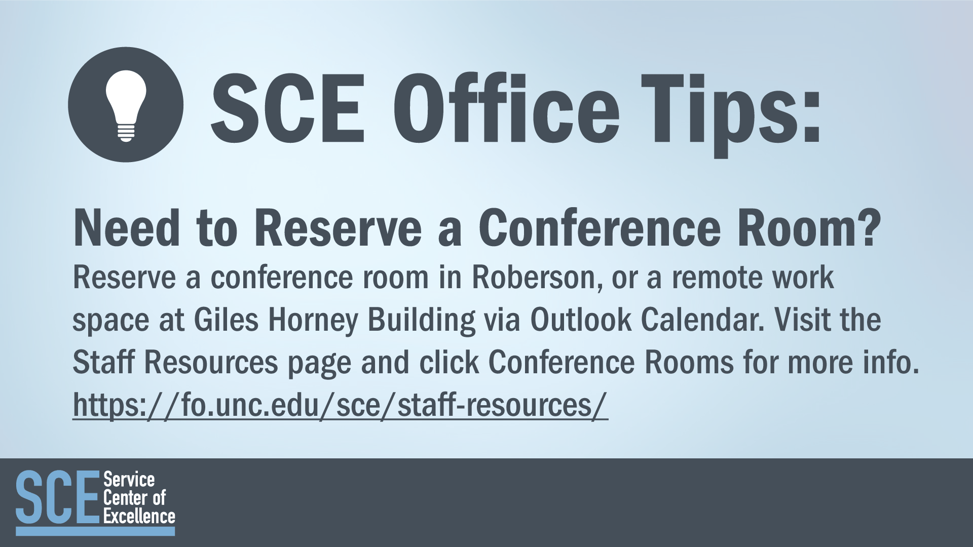 SCE Office Tips: Need to Reserve a Conference Room