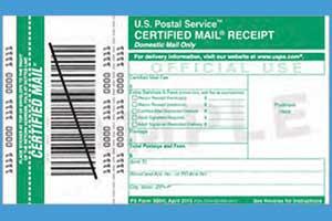 Certified Receipt